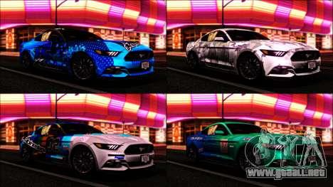 Ford Mustang GT 2015 v2 para la visión correcta GTA San Andreas