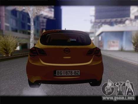 Opel Astra J 2011 para GTA San Andreas vista hacia atrás