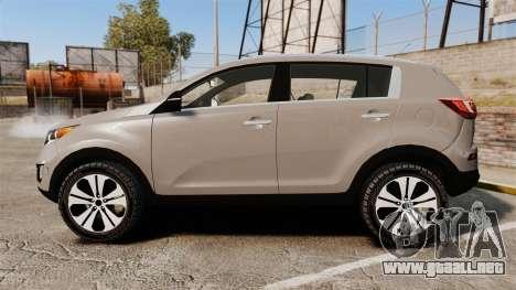 Kia Sportage Unmarked Police [ELS] para GTA 4 left