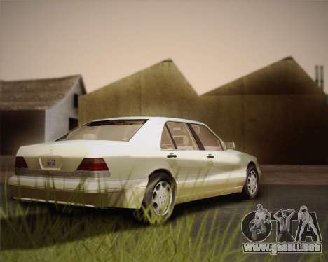 Mercedes-Benz S600 V12 Custom para visión interna GTA San Andreas