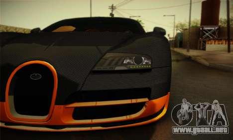 Bugatti Veyron Super Sport World Record Edition para la visión correcta GTA San Andreas