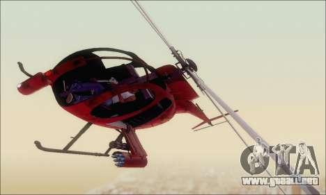 Helicóptero de ataque buitre de GTA 5 para GTA San Andreas left