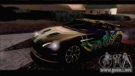 Aston Martin V12 Zagato 2012 [IVF] para la vista superior GTA San Andreas