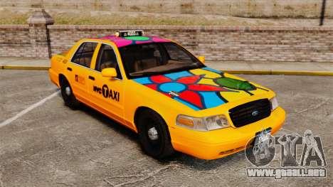 Ford Crown Victoria 1999 NYC Taxi para GTA 4 vista superior