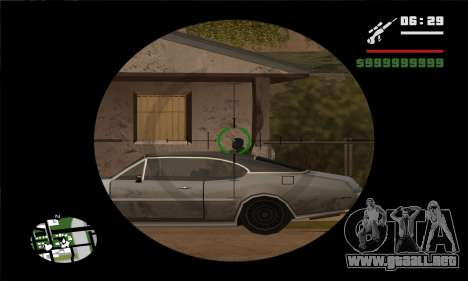 GTA V Sniper Scope para GTA San Andreas