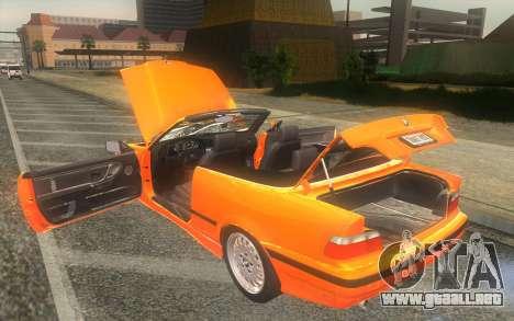 BMW 325i E36 Convertible 1996 para visión interna GTA San Andreas