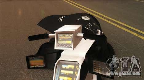 CopBike Alien City para GTA San Andreas vista posterior izquierda