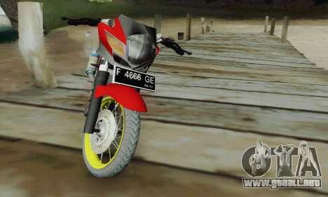 Suzuki Satria FU 150cc 2011 Semi Drag para la visión correcta GTA San Andreas
