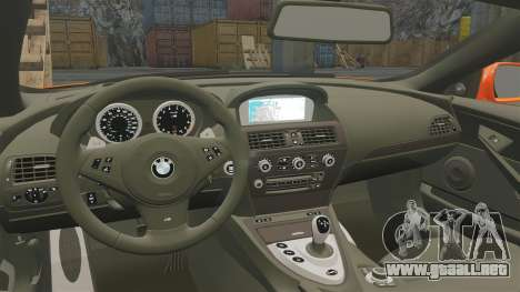 BMW M6 para GTA 4 vista interior