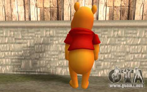 Winnie The Pooh para GTA San Andreas segunda pantalla