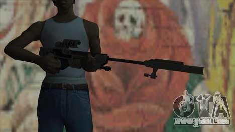 Rifle de francotirador de Timeshift para GTA San Andreas tercera pantalla