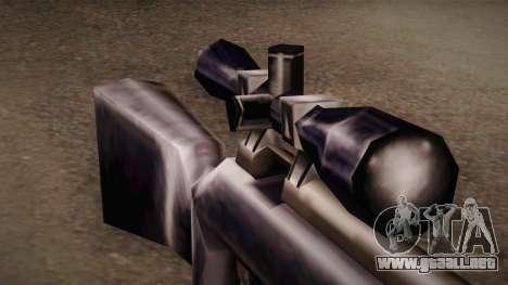 Rifle de francotirador de Max Payn para GTA San Andreas segunda pantalla