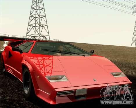 Lamborghini Countach LP500 Quattrovalvole 1988 para vista inferior GTA San Andreas