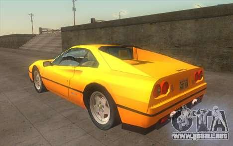 Ferrari 328 GTB para GTA San Andreas left