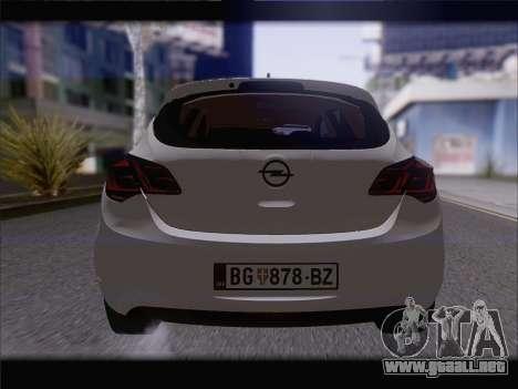 Opel Astra J 2011 para visión interna GTA San Andreas