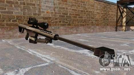 El francotirador Barrett M82 rifle 50 Cal para GTA 4