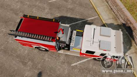 Firetruck Alderney [ELS] para GTA 4 visión correcta