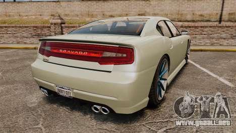 GTA V Bravado Buffalo STD8 v2.0 para GTA 4 Vista posterior izquierda