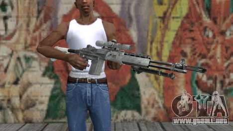 M14 EBR Ártico para GTA San Andreas tercera pantalla