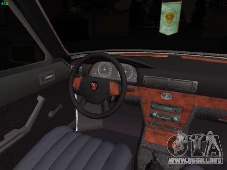 GAZ 3102 postura para visión interna GTA San Andreas