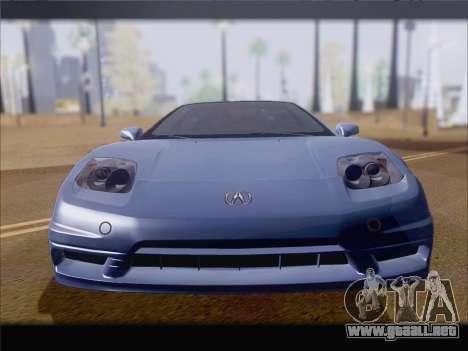 Acura NSX para vista lateral GTA San Andreas