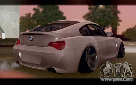 BMW Z4 Stance para GTA San Andreas left