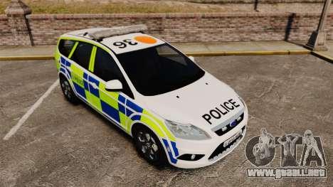 Ford Focus Estate 2009 Police England [ELS] para GTA 4 vista interior