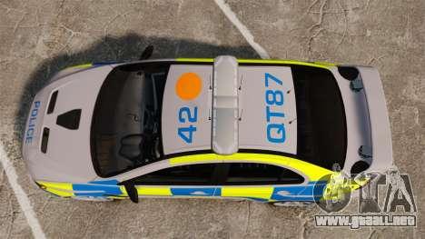 Mitsubishi Lancer Evolution X Police [ELS] para GTA 4 visión correcta