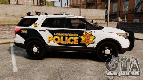 Ford Explorer 2013 Longwood Police [ELS] para GTA 4 left