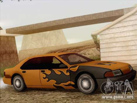 Fortune Sedan para visión interna GTA San Andreas