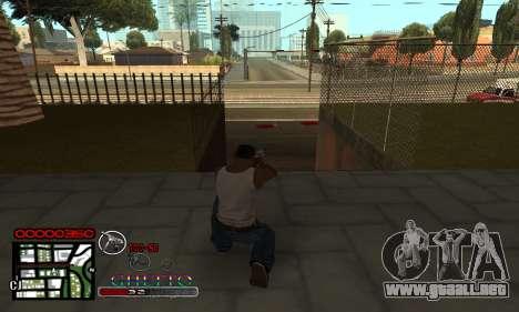 C-HUD Getto Jonka para GTA San Andreas segunda pantalla