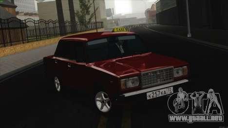 VAZ 2107 Bombilla para GTA San Andreas left