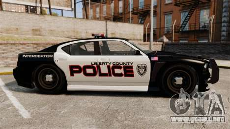 GTA V Bravado Buffalo Supercharged LCPD para GTA 4 left