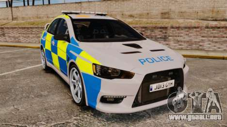 Mitsubishi Lancer Evolution X Police [ELS] para GTA 4