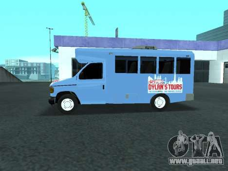 Ford Shuttle Bus para GTA San Andreas left