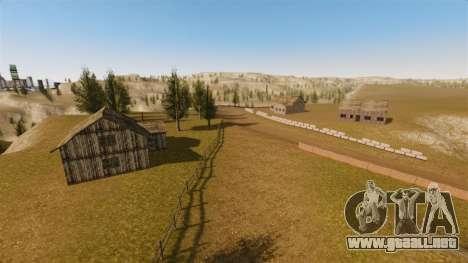 Cliffside ubicación Rally para GTA 4 octavo de pantalla