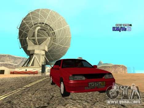 VAZ 2115 Taxi para la visión correcta GTA San Andreas