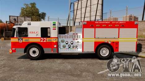 Firetruck FDLC [ELS] para GTA 4 left