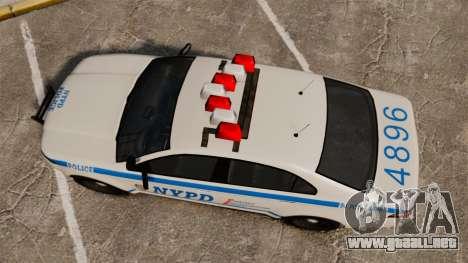 GTA V Police Vapid Interceptor NYPD para GTA 4 visión correcta