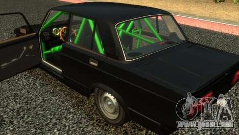 VAZ 2105 para GTA 4 vista hacia atrás