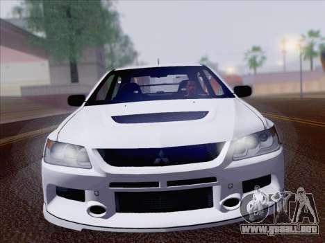Mitsubishi Lancer Evo IX MR Edition para la visión correcta GTA San Andreas