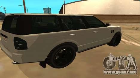 Baller GTA 5 para GTA San Andreas vista posterior izquierda