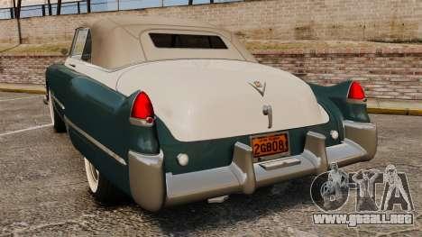 Cadillac Series 62 1949 para GTA 4 Vista posterior izquierda