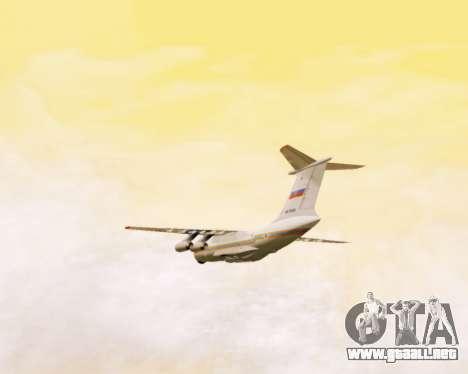 Il-76td EMERCOM de Rusia para vista lateral GTA San Andreas
