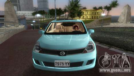 Nissan Tiida para GTA Vice City vista posterior