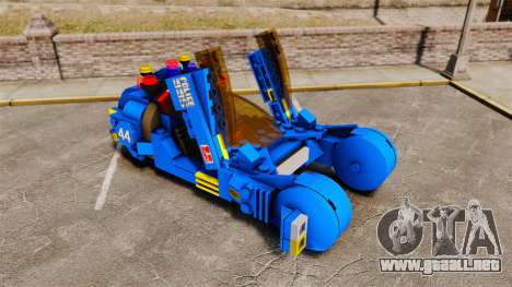Lego Car Blade Runner Spinner [ELS] para GTA 4 vista interior