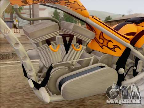 Sons Of Anarchy Chopper Motorcycle para GTA San Andreas vista posterior izquierda