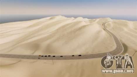 Ubicación de la carretera del desierto para GTA 4 segundos de pantalla