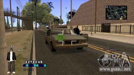 C-HUD Aztecaz para GTA San Andreas tercera pantalla
