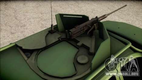 Dacia Duster Army Skin 1 para GTA San Andreas vista hacia atrás